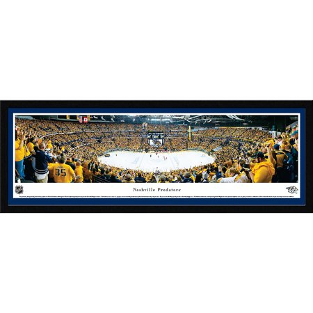 Nashville Predators Playoff Victory Blakeway Panoramas NHL Print with Select Frame and Single Mat by