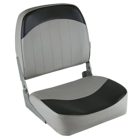 Wise 8WD734PLS-664 Low Back Boat Seat, Grey / Charcoal