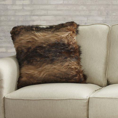 17 Stories Maarten Faux Fur Throw Pillow