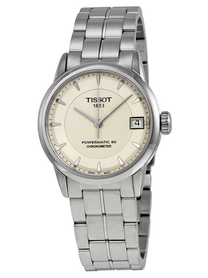 Luxury Automatic Ivory Dial Stainless Steel Ladies Watch T086.208.11.261.00