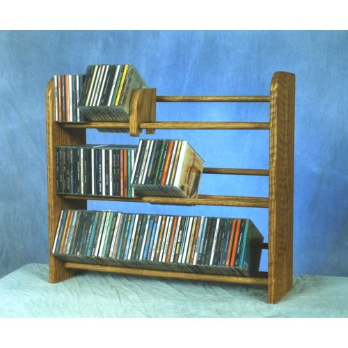 Wood Shed 300 Series 165 CD Multimedia Tabletop Storage Rack