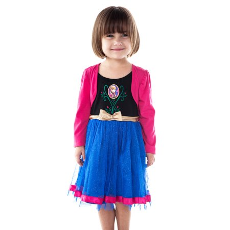 Girls Disney Frozen Anna Halloween Costume Dress (Anna Frozen Costumes For Adults)