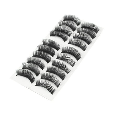 Long Thick False Eyelashes Fake Lashes Extension 10 Pairs - Feather Fake Eyelashes
