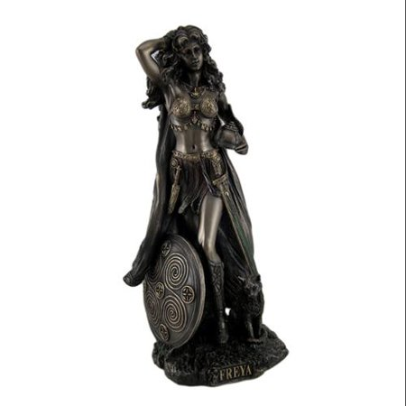 Norse Goddess Freya Antique Bronze Finish Statue -  Unicorn Studios, 0694419713109