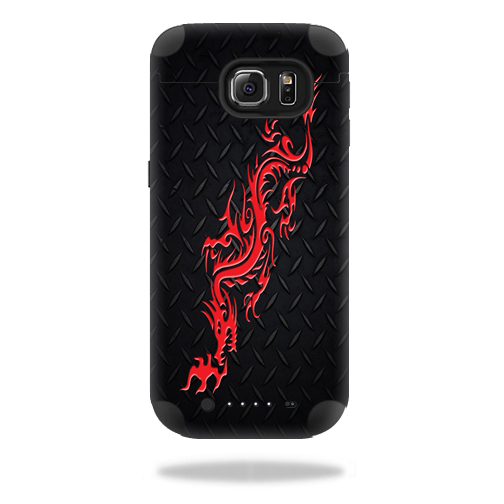 MightySkins Protective Vinyl Skin Decal for Mophie Juice Pack Samsung Galaxy S6 wrap cover sticker skins Red Dragon