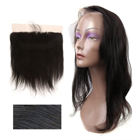 Unique Bargains Straight Free Part Closure Human Hair Frontal Lace 13x4