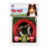 2121 Medium-Duty 30' Tie-Out Cable, Medium duty for dogs up to 65 lbs By Prevue Pet Products