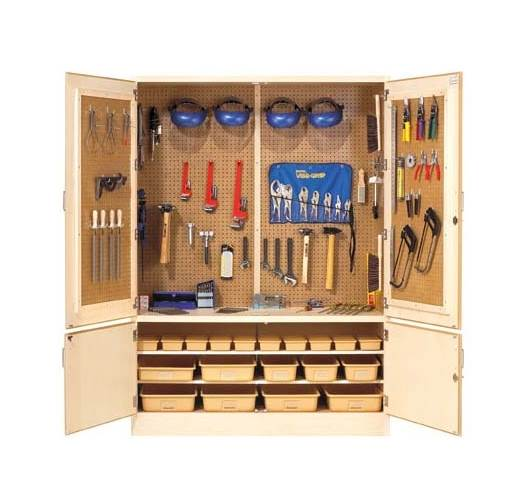 Welding Tool Storage Cabinet with Tools