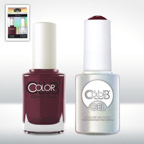 Color Club Gel GEL825 + Lacquer 0.5 oz Feverish 825