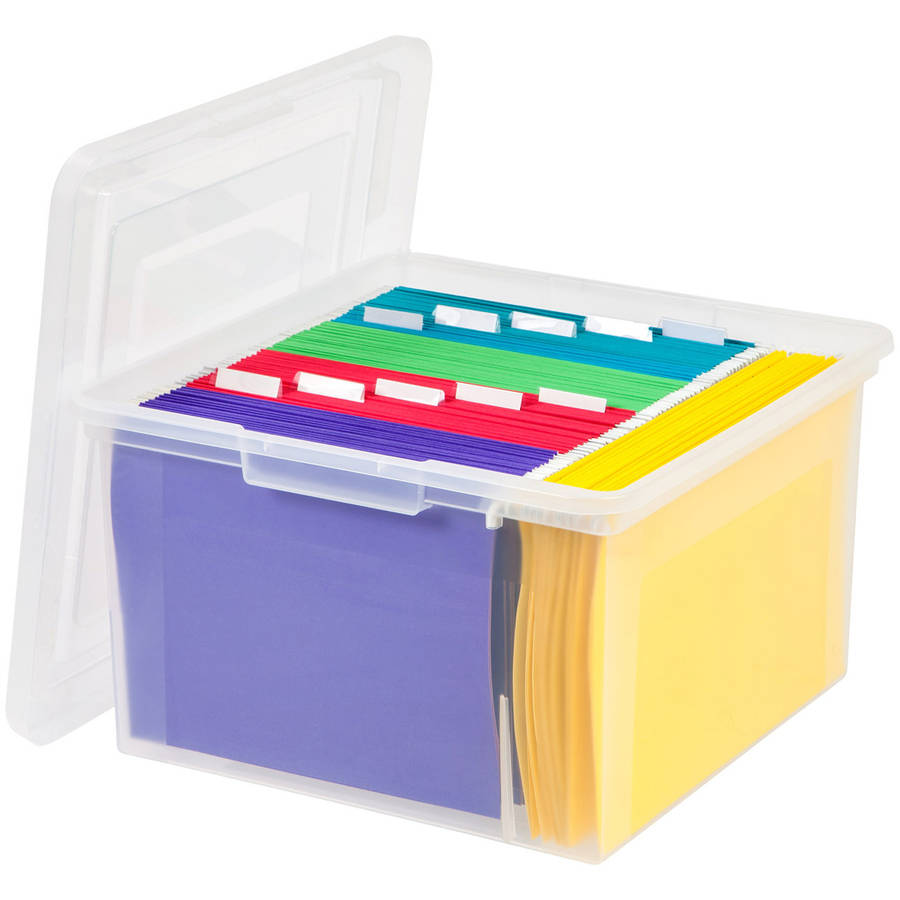 IRIS STORE-IT-ALL Letter and Legal Size File Storage Box, Clear