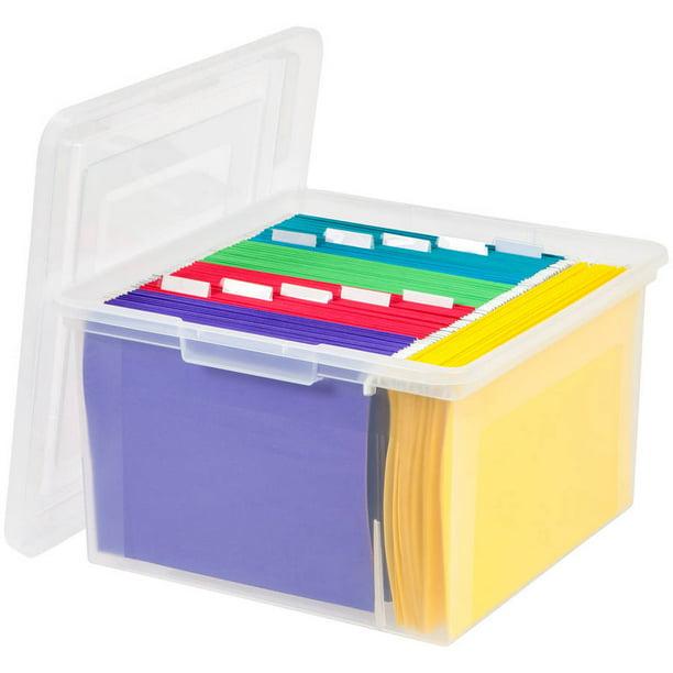 Iris Usa Dual Purpose Letter And Legal Size File Storage Box Clear Walmart Com Walmart Com