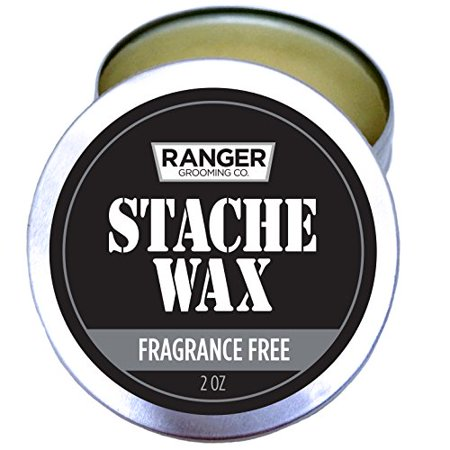 Mustache & Beard Wax with Avocado Oil Smoothes & Nourishes Fragrance Free 2 oz