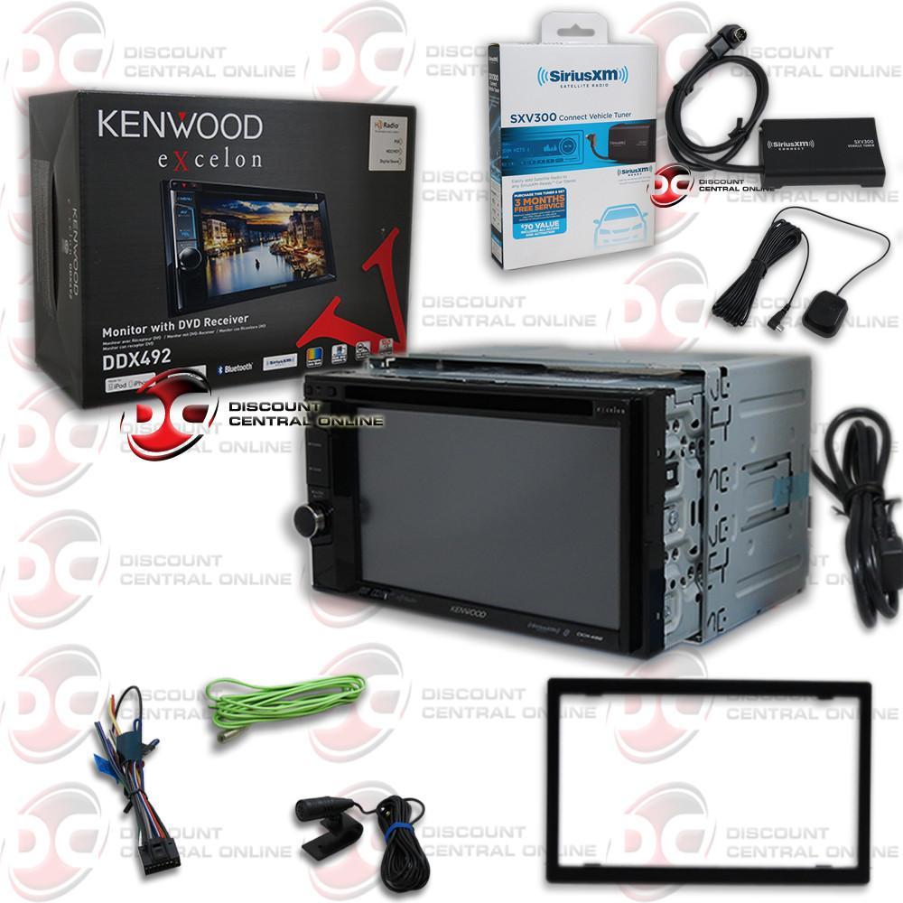 "Kenwood Excelon DDX492 6.2"" DVD Receiver and SiriusXM SXV300 Connect Vehicle Tuner Car Satellite Radio by Kenwood"