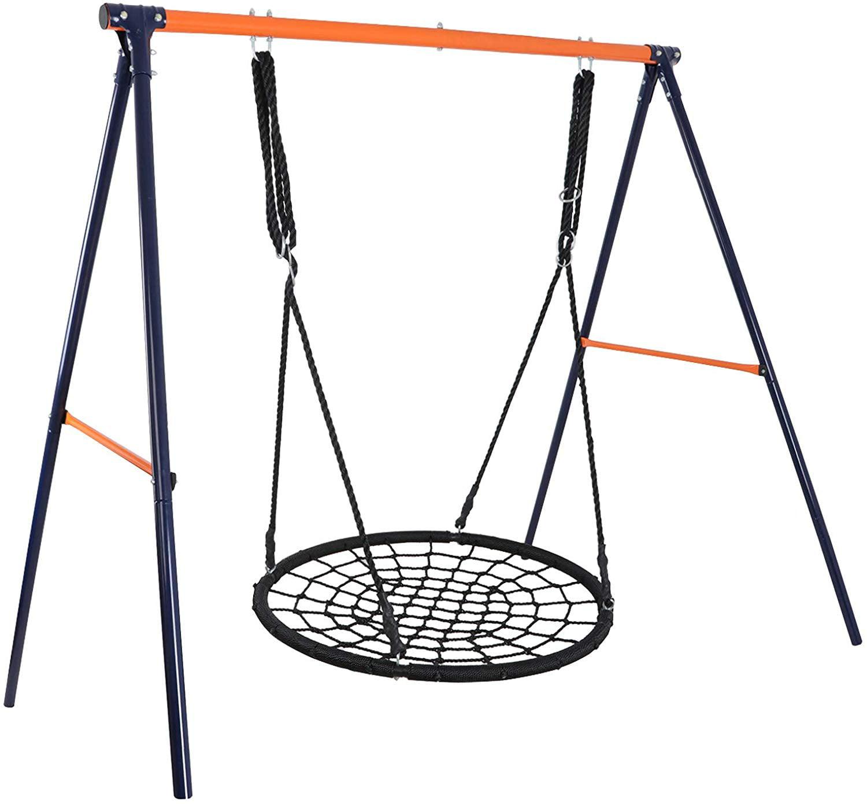 """ZENSTYLE Outdoor Spider Swing Set - 48"""" Tree Web Swing ..."""