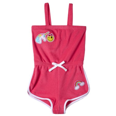 Unicorn Patches French Terry Romper Coverup (Little Girls & Big Girls) ()