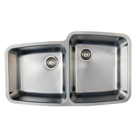Blanco 441002 Performa Medium 1-3/4-Inch Bowl Undermount Sink, Satin Polished