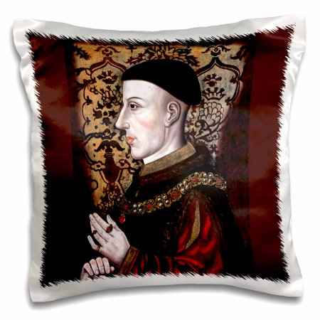 3dRose Henry V, King of England, Late 16th Century, Artist unknown, Pillow Case, 16 by 16-inch