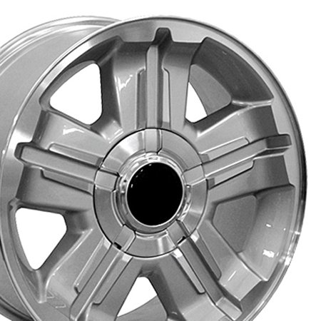 - OE Wheels 18x8 Chevy Z71 Style | Fits GM Trucks and SUVs | CV88 Silver Rim with Machined Face, Hollander 5300 - SET
