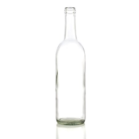 750 ML Clear Optima Bordeaux Flat Bottom Bottle (single)