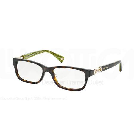 COACH Eyeglasses HC 6052 5232 Tortoise Green 54MM](Light Up Eyeglasses)