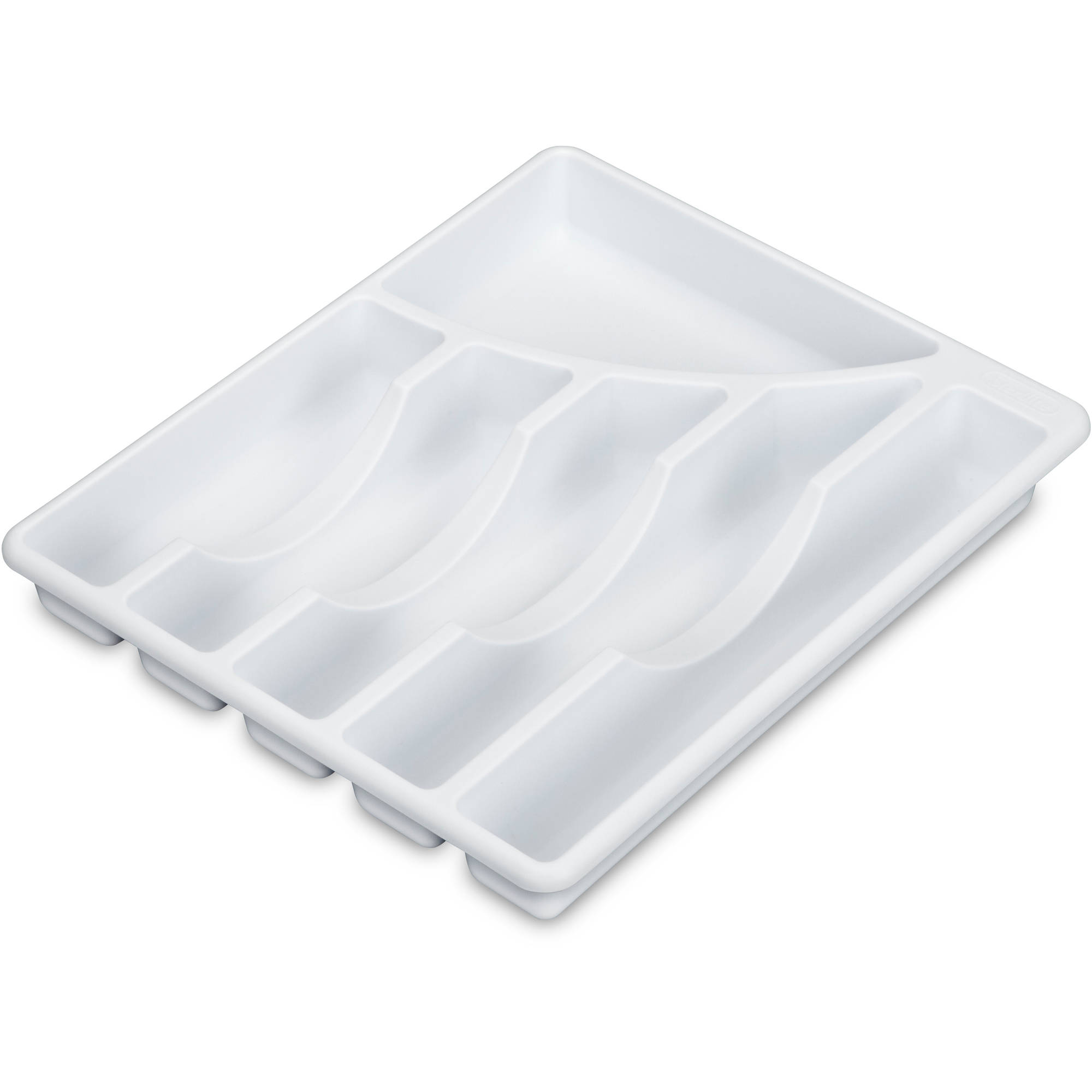Mainstays 6-Compartment Cutlery Tray, White