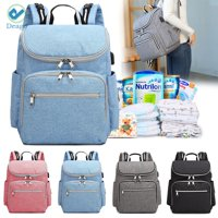Deago Fashion Women daypack Diaper Bag Multi-Function Waterproof Travel Backpack Nappy Bags for Baby Care Blue