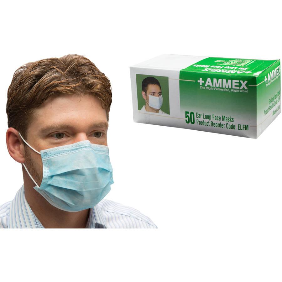 AMMEX Ear Loop Face Mask, 600 Masks by Ammex