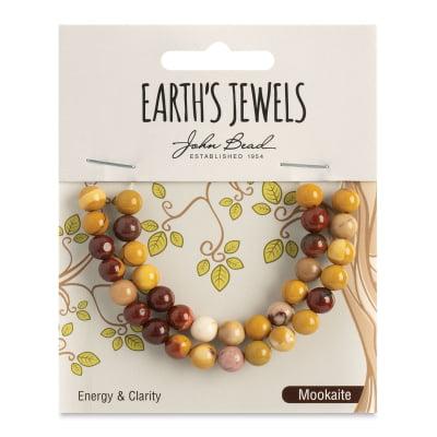 Mookaite Jasper Beads - John Bead Semi-Precious Beads - Mookaite Jasper, Round, 6 mm, 33 Beads
