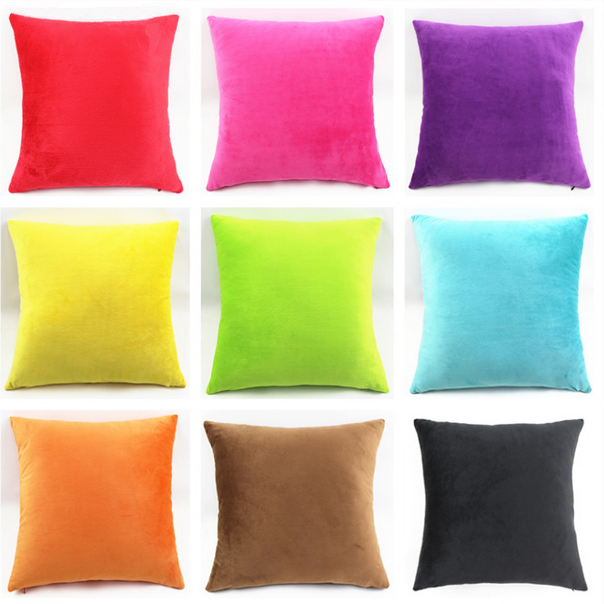 On Clearance 18''x18'' Pure Color Linen Cotton Throw Pillow Covers Decorative Pillow Cases Protector with Zipper Car Sofa Home Decor