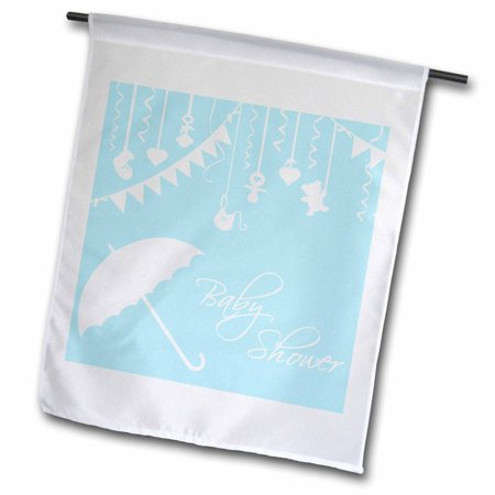 Image of 3dRose Light blue Baby Shower - blue for little boy arrival - stylish contemporary modern its a boy - Garden Flag, 12 by 18-inch