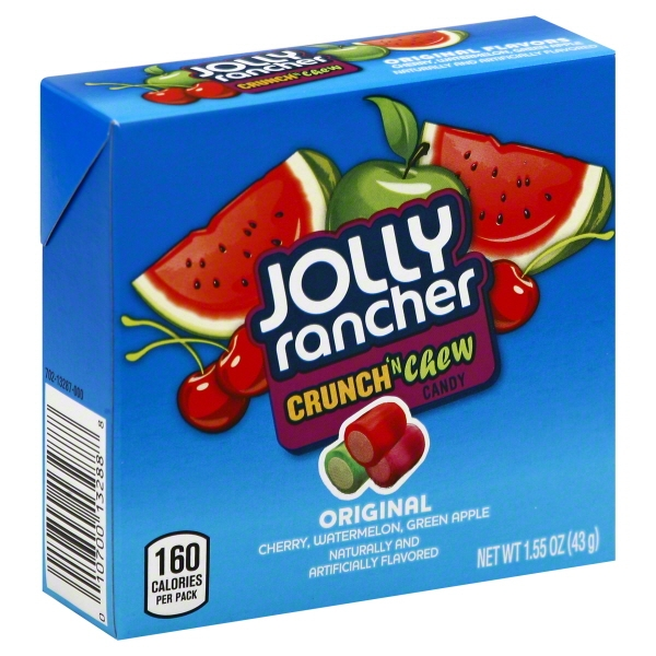 Hershey Foods Jolly Rancher  Crunch 'n Chew Candy, 1.55 oz