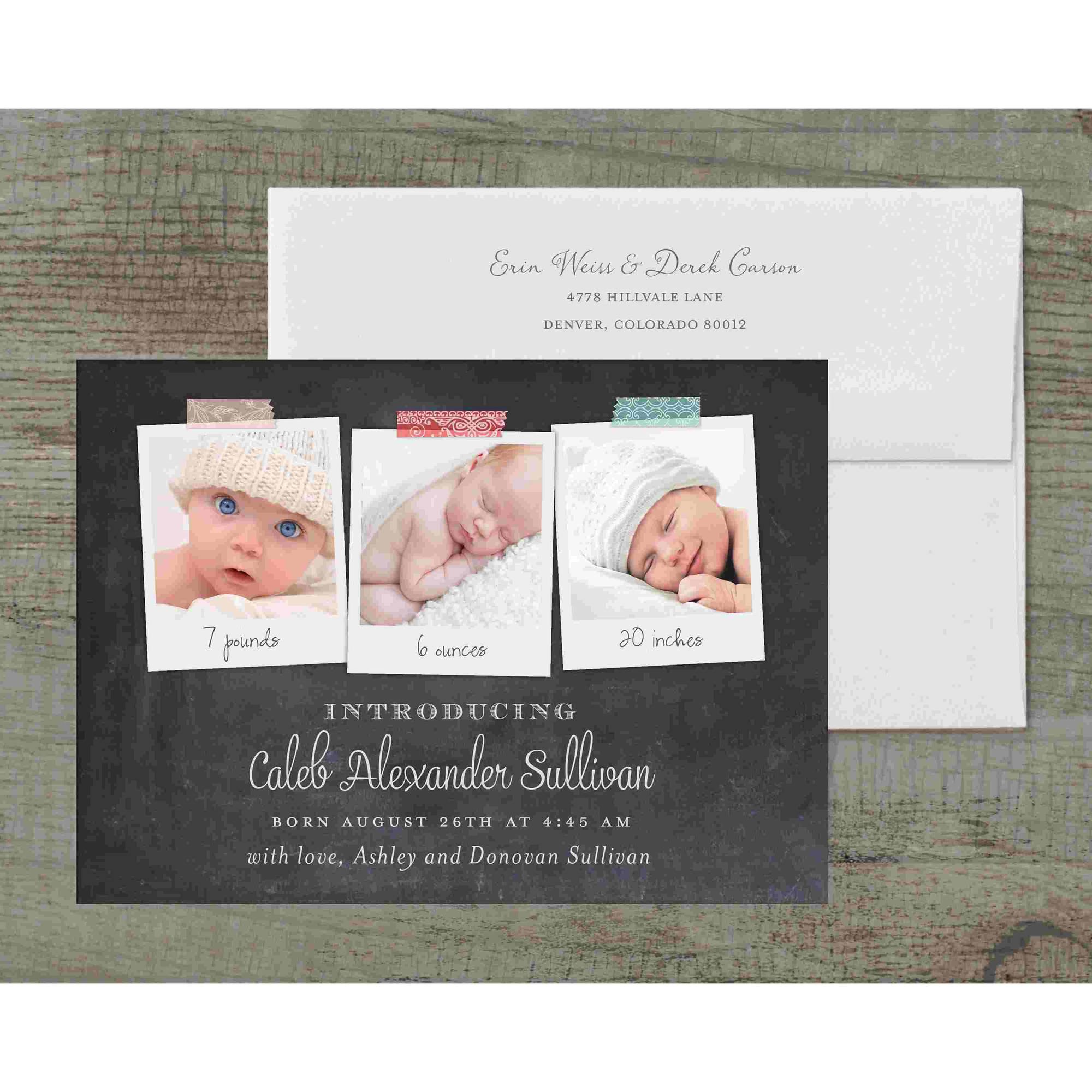 Polaroid Deluxe Baby Announcement