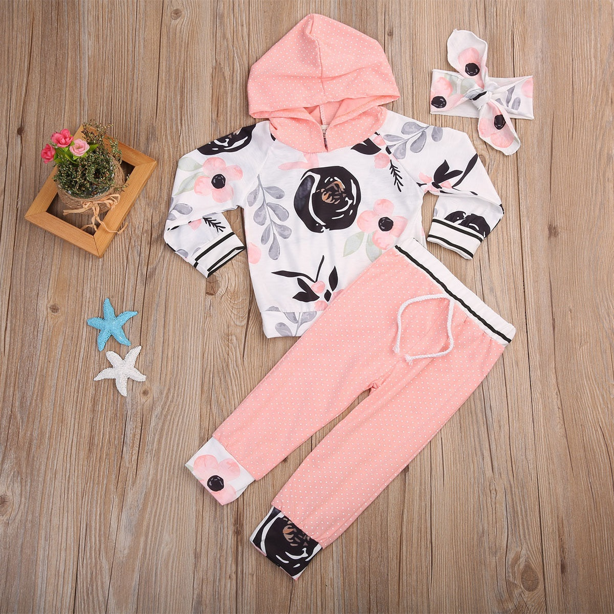 3pcs Cute Toddler Infant Newborn Baby Boy Girl Outfit Soft Catton Fashion  Baby Girl T,shirt Tops+Pants Outfits Set Clothes