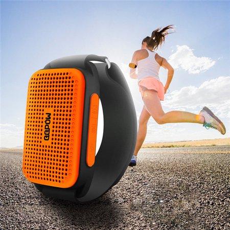 Portable TF bluetooth Wireless Stereo Music Speakers Sport bluetooth Camera Controller 80DB Arm Belt Phone Speakers Waterproof
