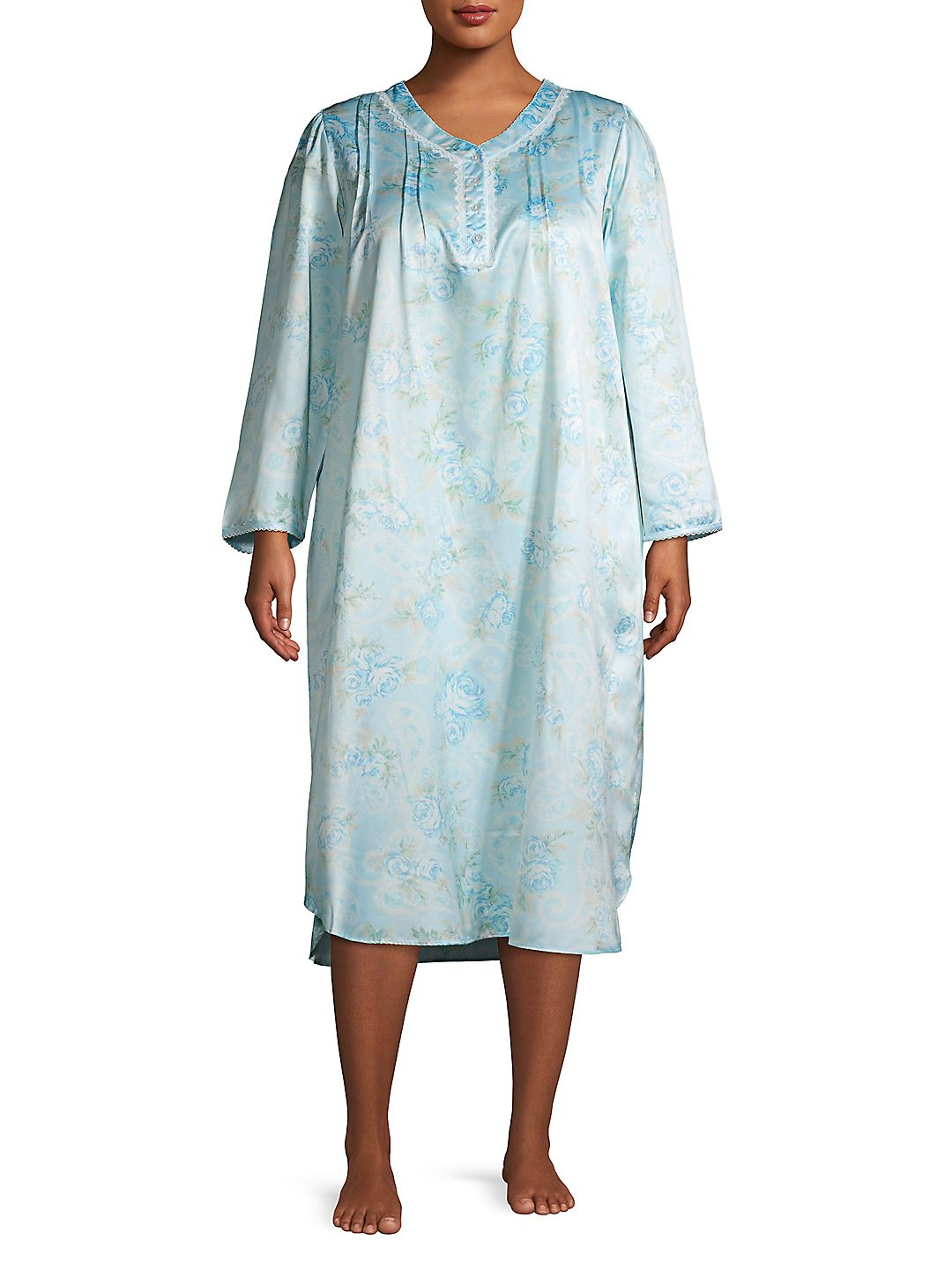 Plus Floral Printed Nightgown