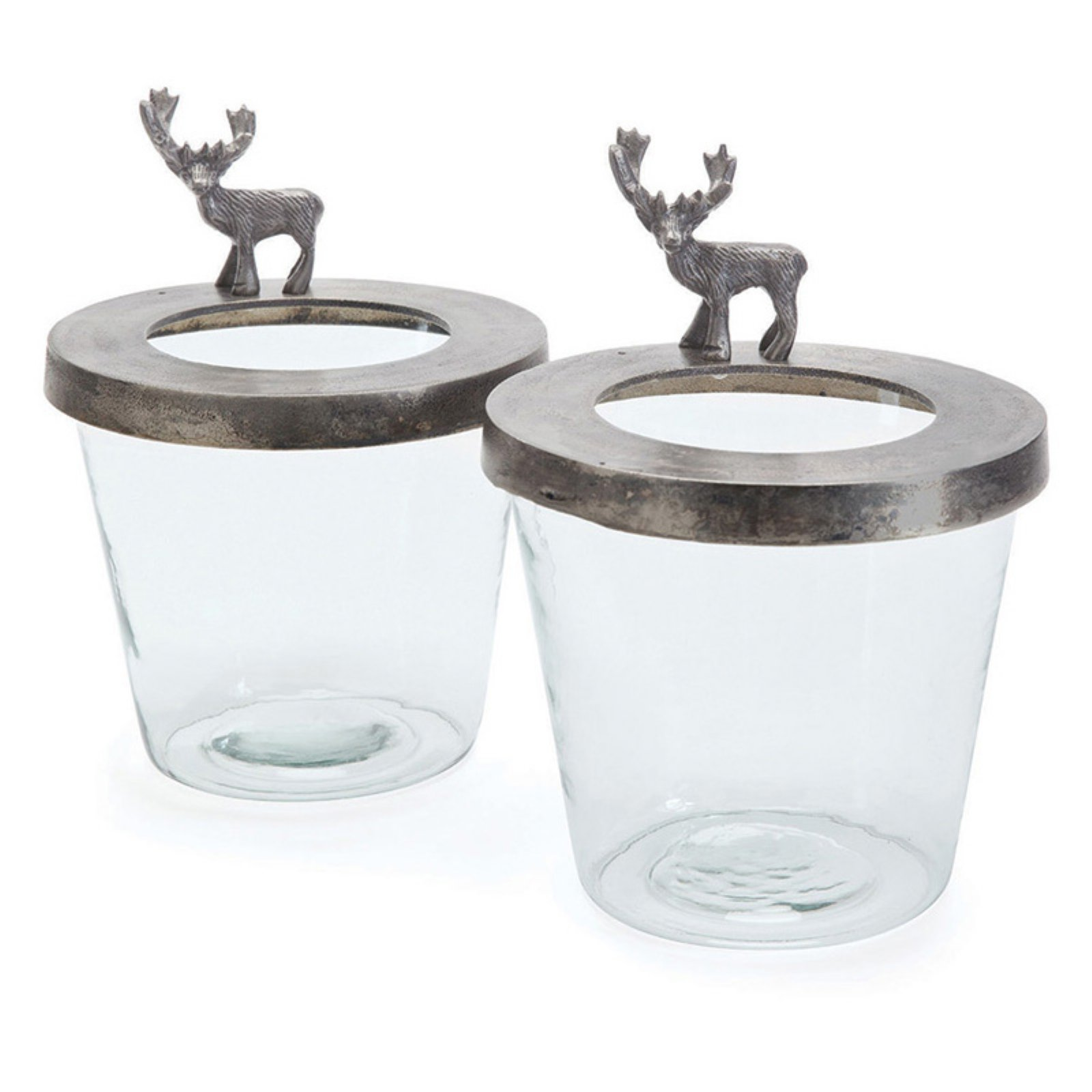 Hip Vintage Calhoun Hurricane Candle Holder - Set of 2