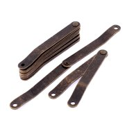 Uxcell Furniture Box Rotatable Folding Lid Lift Up Support Hinge Stay Bronze Tone 7pcs