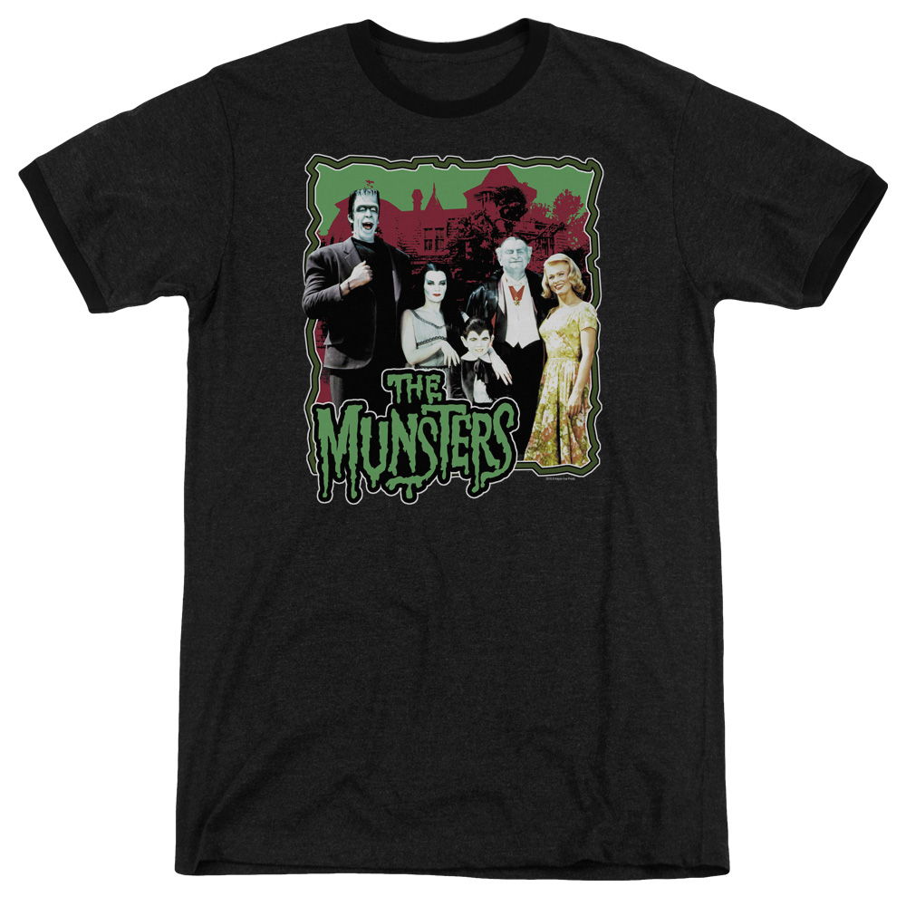 Munsters Normal Family Mens Adult Heather Ringer Shirt