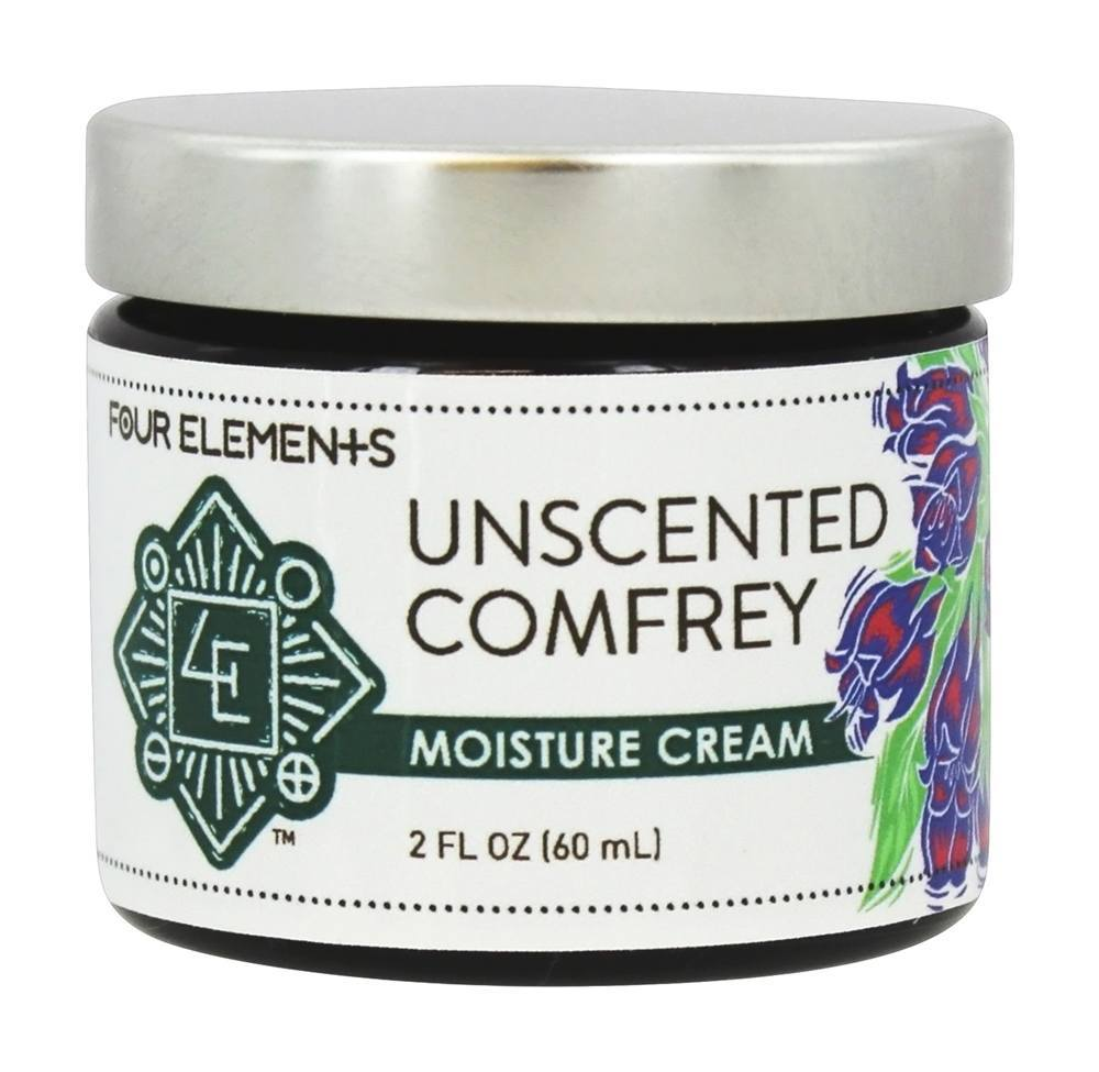 Four Elements Herbals - Moisture Cream Unscented Comfrey - 2 oz.
