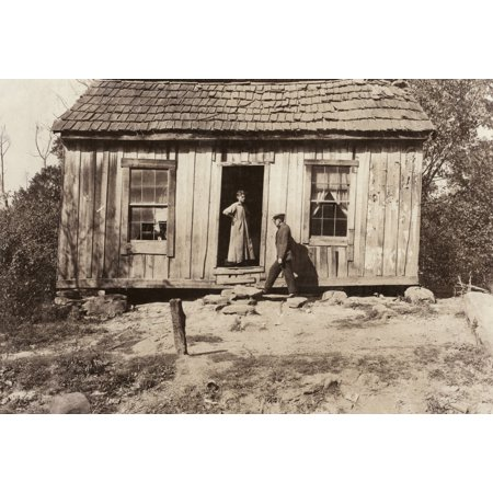 Dilapidated Home 1921 Nthe Rented Home Of Sr Reed Sissonville West Virginia Photographed On 11 October 1921 By Lewis Hine Rolled Canvas Art     24 X 36