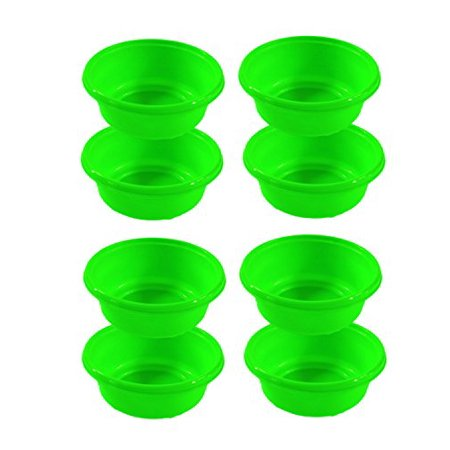 Set of 8 Green Click Home Design Bright & Beautiful Collection Mini Lipped Bowls