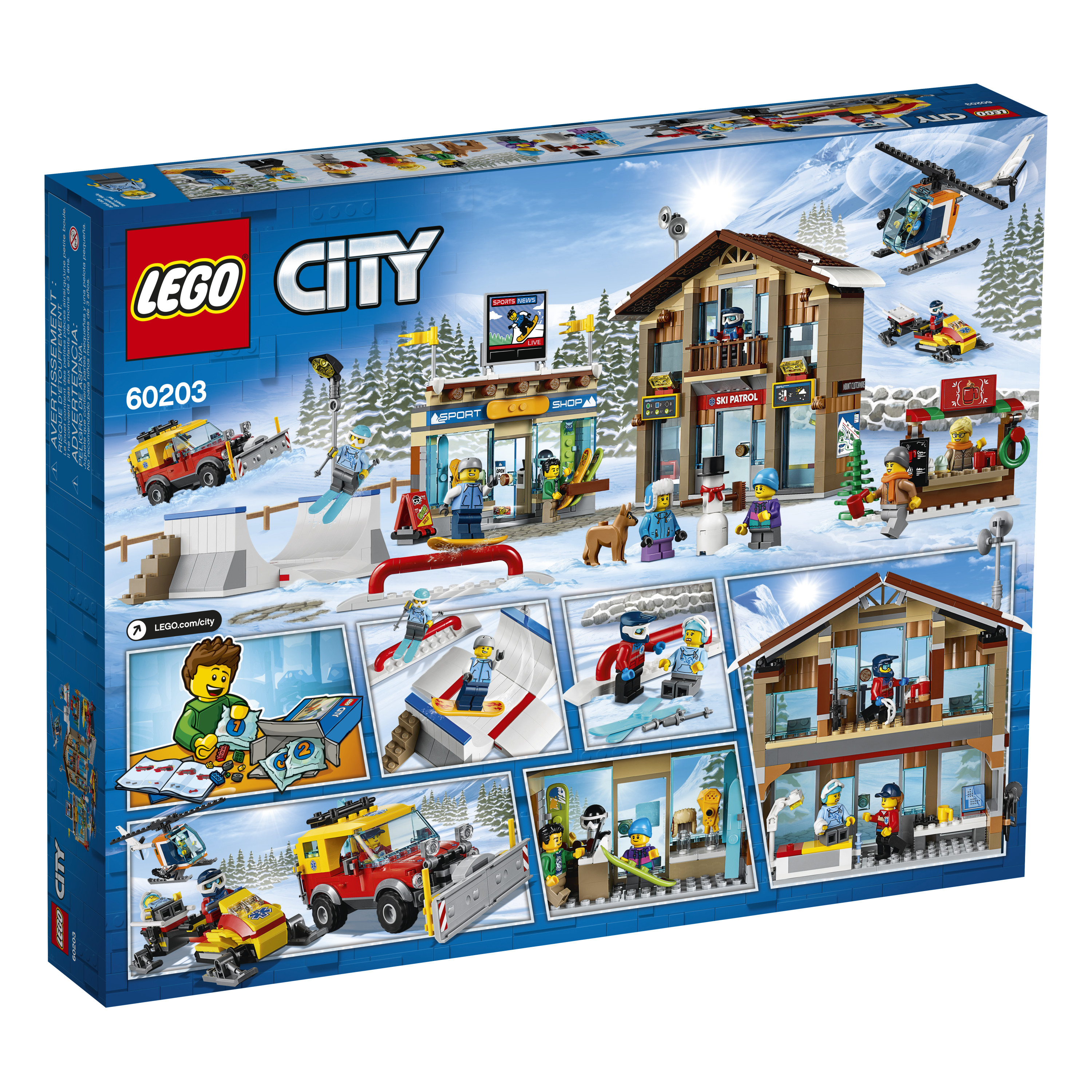 LEGO Rescue Helicopter /& Pilot Minifigure From Lego City 60203 NEW No Box