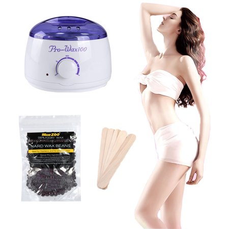 Electric Wax Heater Kit ,Hot Wax Warmer Machine for Hair Removal,100g Hard Wax Beans and Wax Applicator
