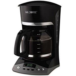 mr. coffee simple brew 12-cup programmable coffee maker, black