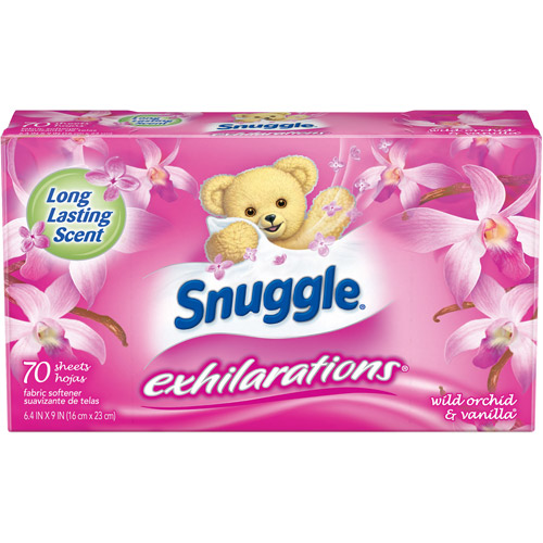 Snuggle Exhilarations Wild Orchid & Vanilla Fabric Softener Dryer Sheets, 70 sheets