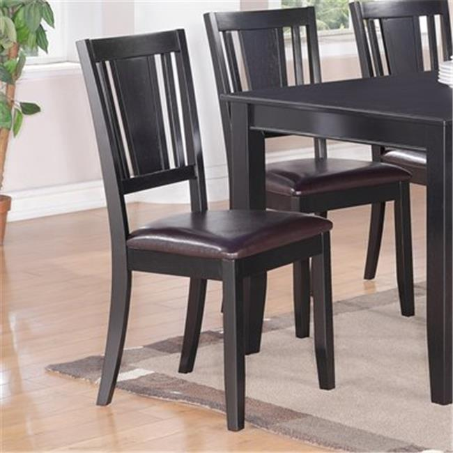 Wooden Imports Furniture DU-LC-BLK Dudley Dining Chair with Faux Leather Upholstered Seat - Black qty 2