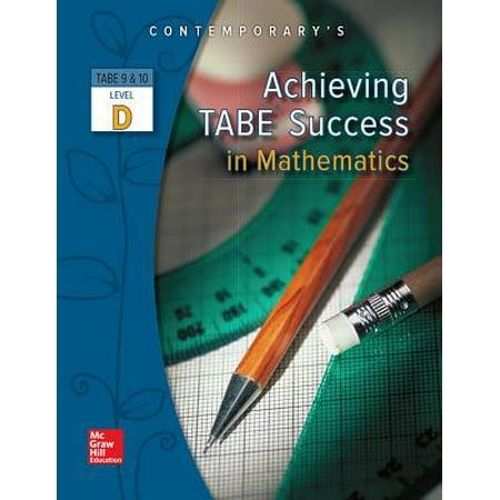Achieving Tabe Success in Mathematics, Level D Workbook - Level D