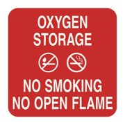 "No Smoking Sign, Sign Comply, 42297-15 RED, 5-1/2""Hx5-1/2""W"