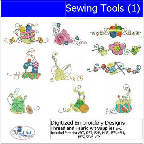 ThreadArt Machine Embroidery Designs Sewing Tools(1) CD