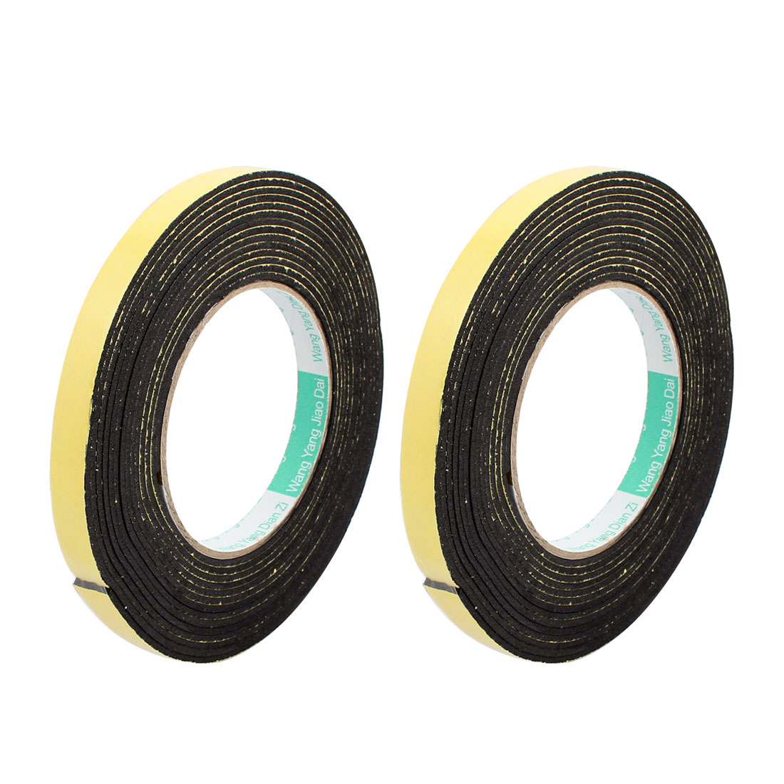 2Pcs 12mm Width 2mm Thick Single Sided Sealing Shockproof Sponge Tape 5m Length